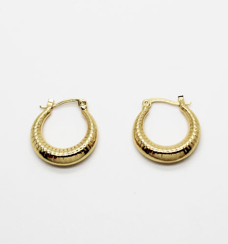 BORDEAUX SPIRAL HOOPS - Leo Chevon (4615253852296)