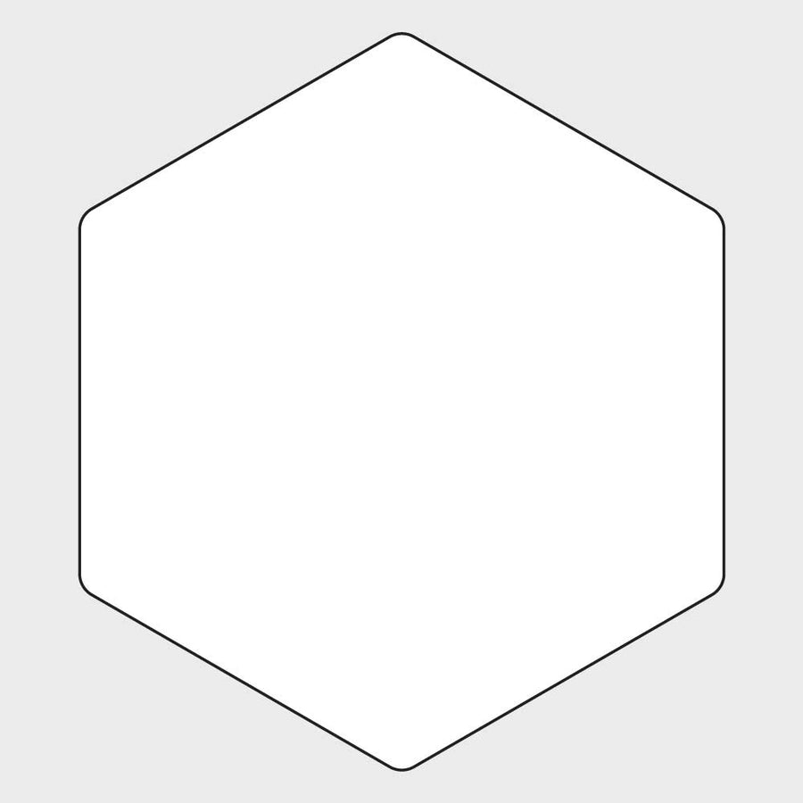 Coaster Oven Hexagon Blank