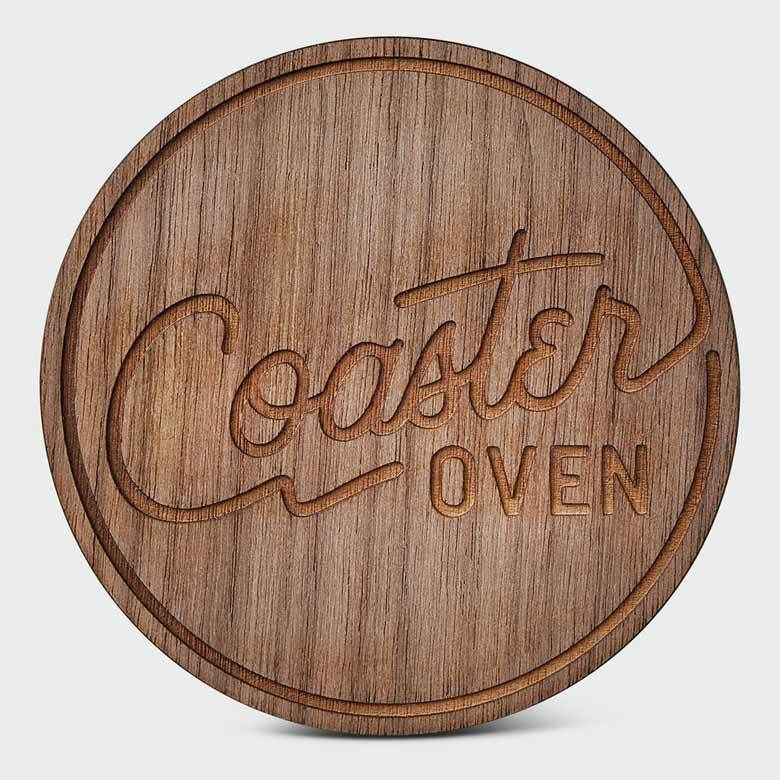 Circle Walnut Plywood Custom Coaster