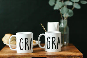 Grandpa and Grandma Mug Set