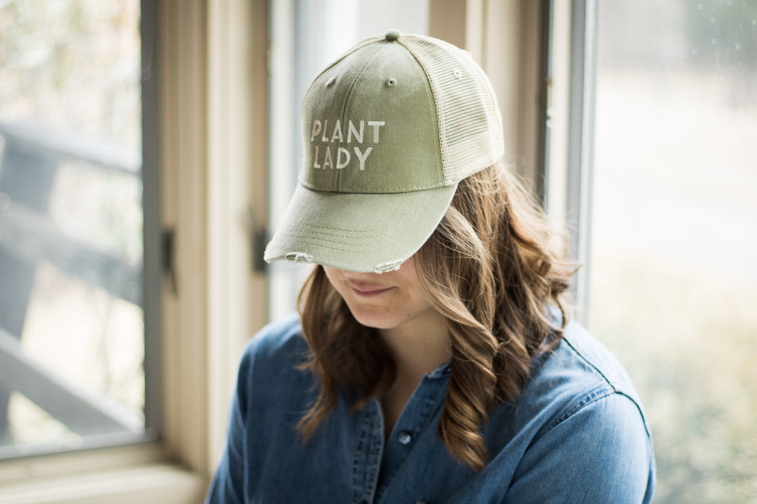 Plant Lady Distressed Hat