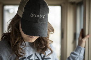 Brave Distressed Hat
