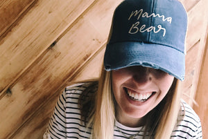Mama Bear Distressed Hat