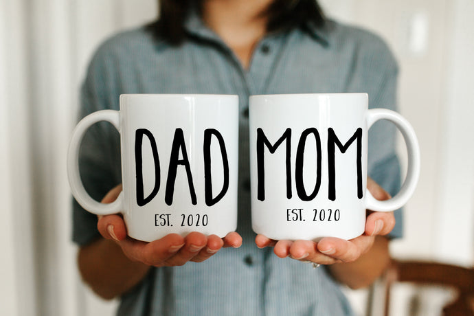 Dad and Mom Established Mugs