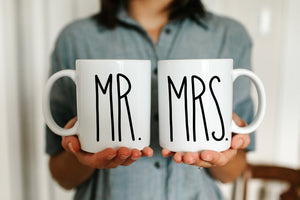 Mr and Mrs Skinny Mug Set