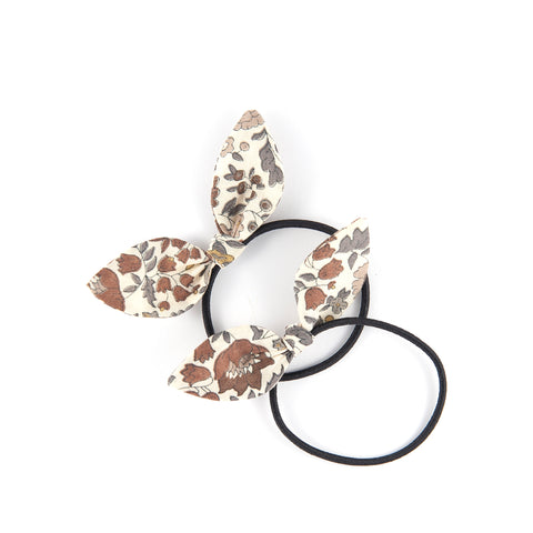 Mini Knot Bows - Brown Floral