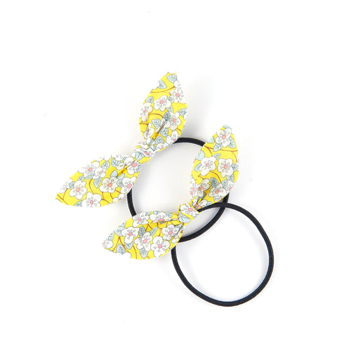 Mini Knot Bow - Yellow Floral