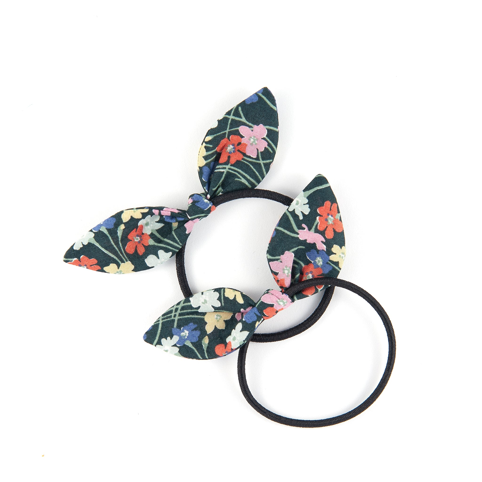 Mini Knot Bow - Black Floral