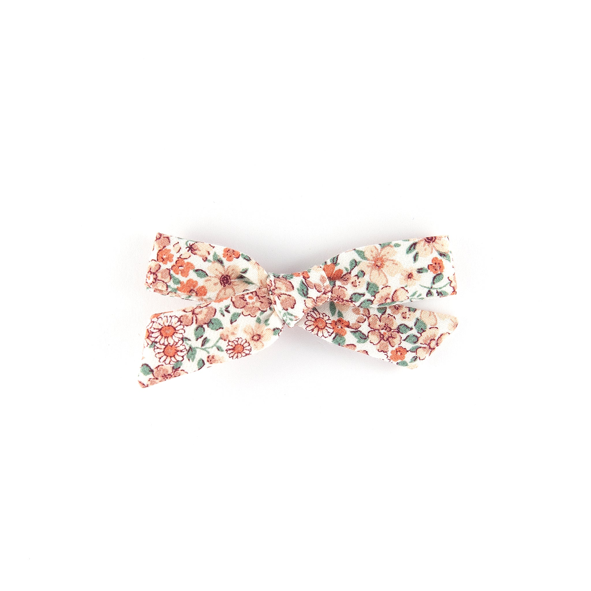 Pigtail bow - floral cotton