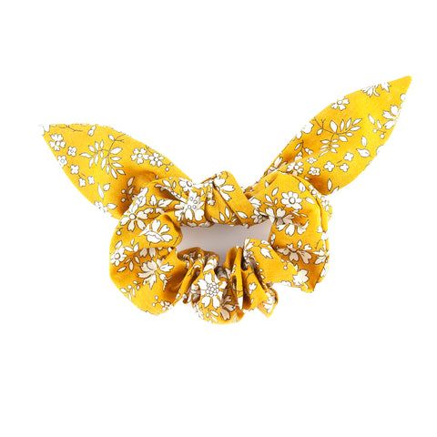 Matilda & Grace, luxury bow scrunchie, Liberty Mustard Capel