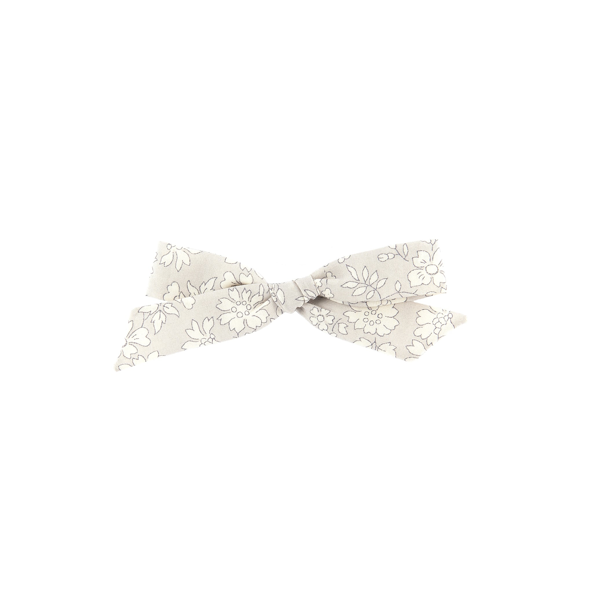 Pigtail Bow - Grey Capel