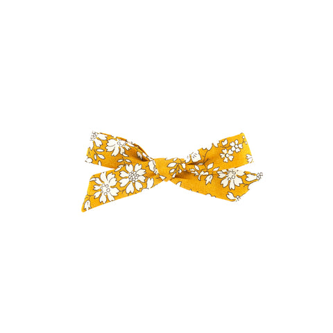 Pigtail Bow - Mustard Capel