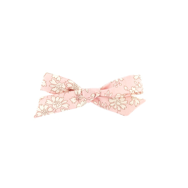 Pigtail Bow - Pink Capel
