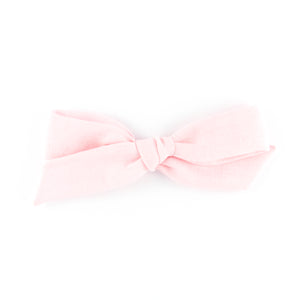Matilda & Grace, handtied bow, pale pink linen