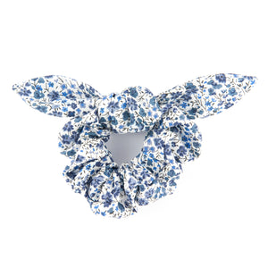 Matilda & Grace, luxury bow scrunchie, Liberty Blue Phoebe