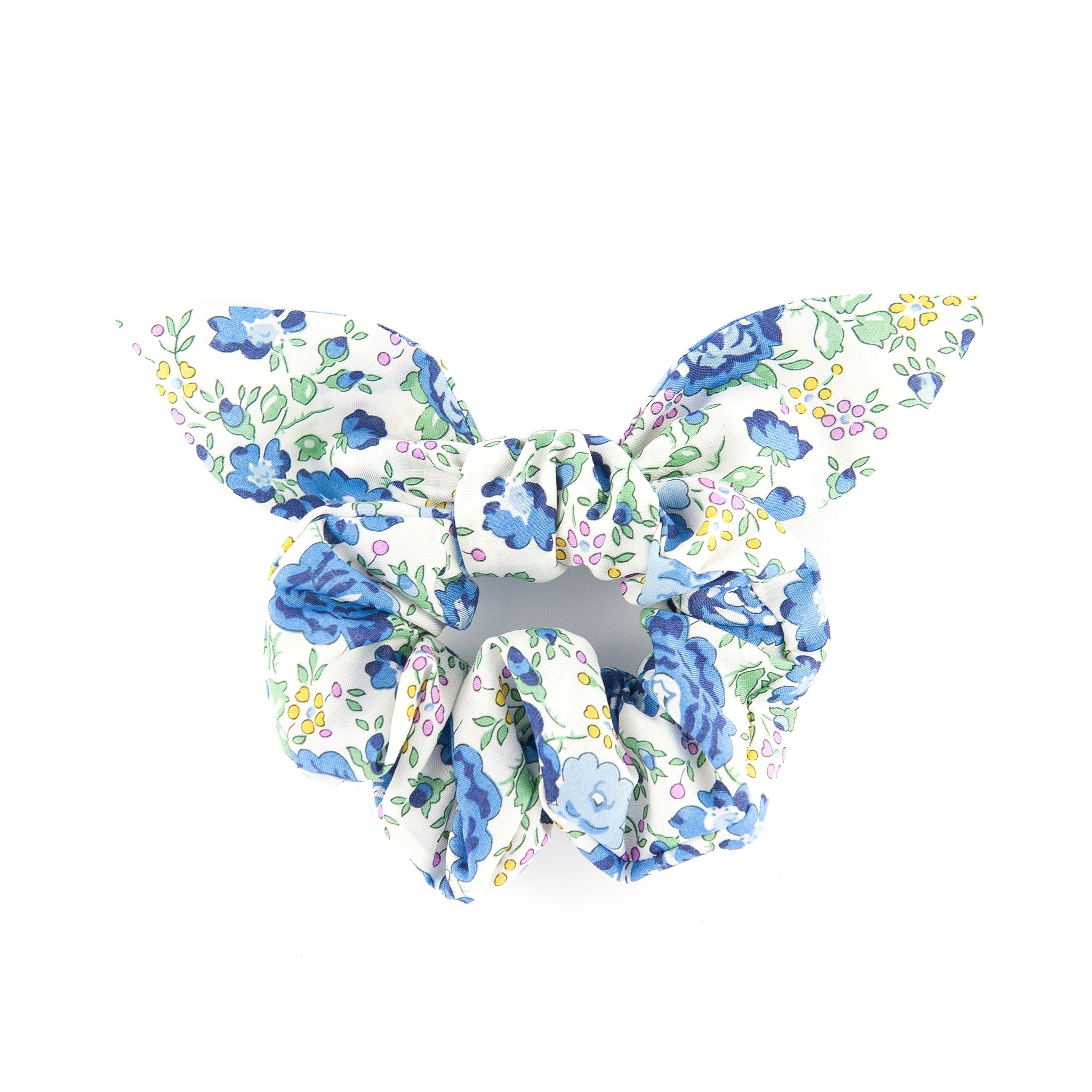 Matilda & Grace, luxury bow scrunchie, Liberty Blue Felicite