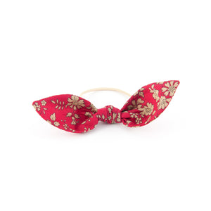 Matilda & Grace, Knot Bow, Liberty Floral Red Capel