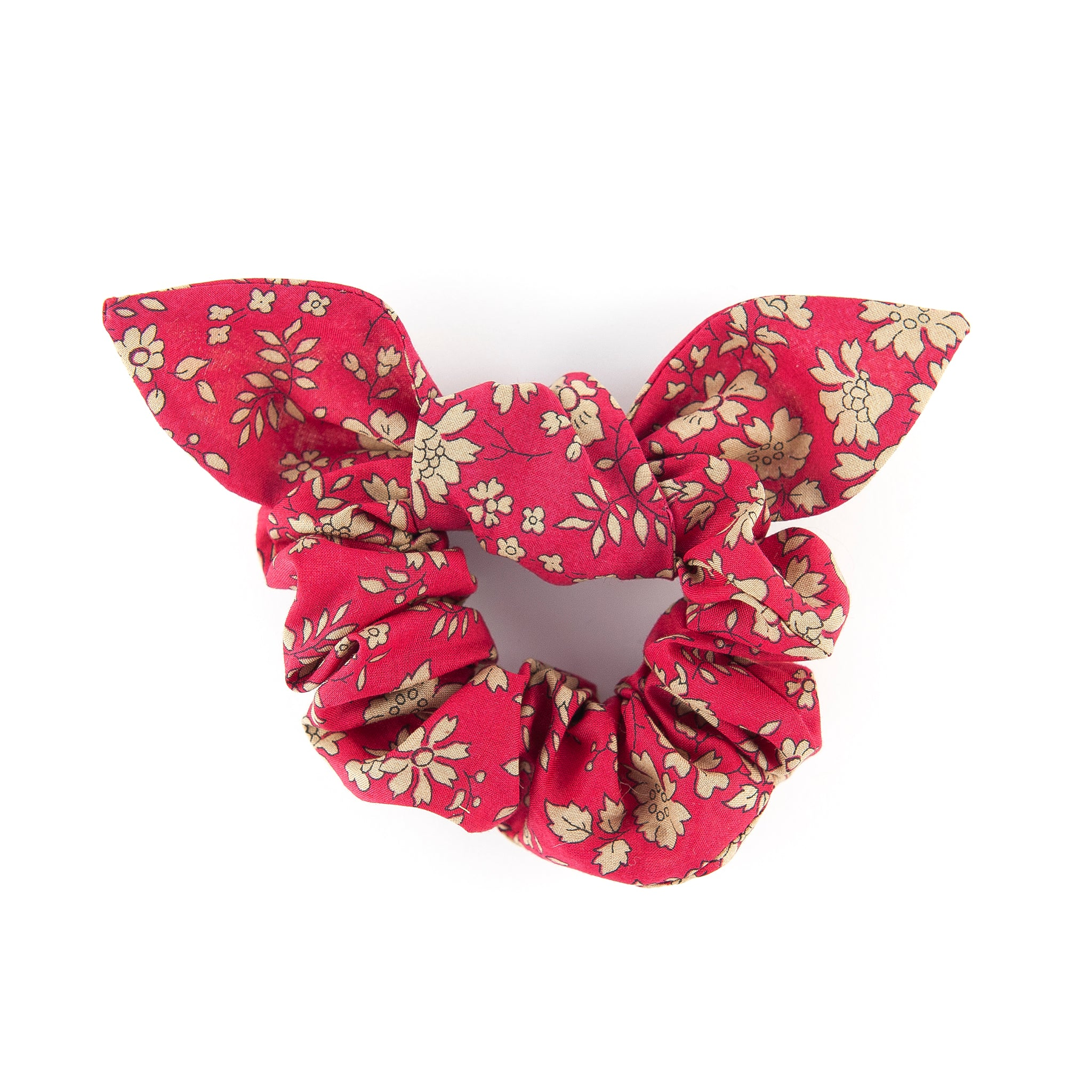 Matilda & Grace, luxury bow scrunchie, Liberty red capel