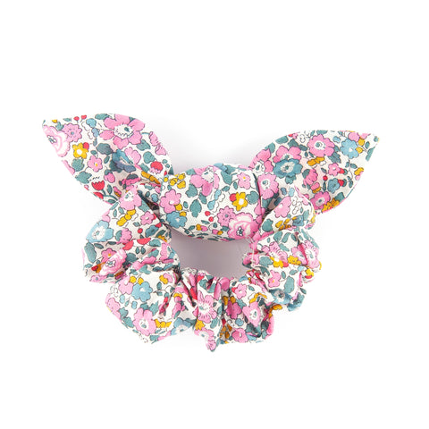 Matilda & Grace, luxury bow scrunchie, Liberty Pink Betsy Ann