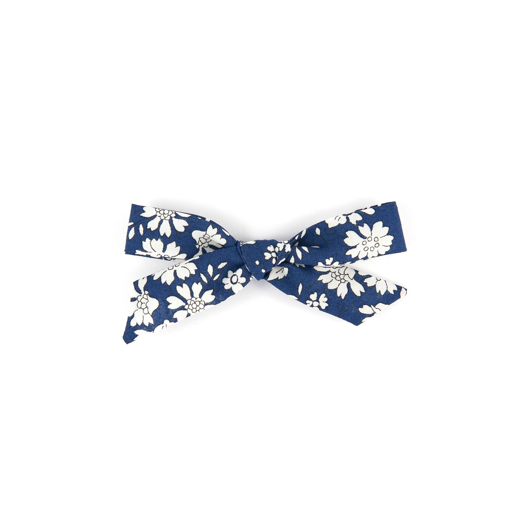 Pigtail Bow - Navy Capel