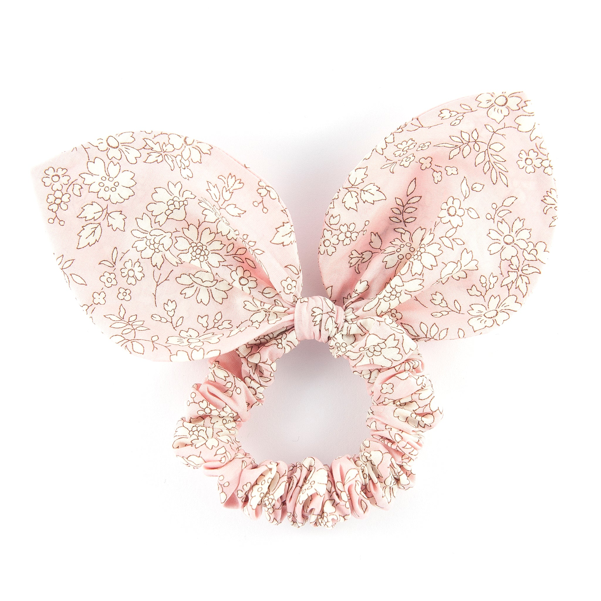 Large 'Bunny Ear' Scrunchie - Pink Capel