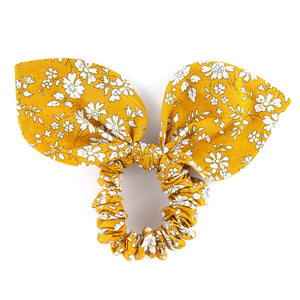 Large 'Bunny Ear' Scrunchie - Mustard Capel