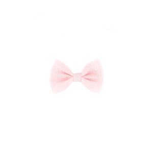 Mini Classic Bow - Pale Pink Linen