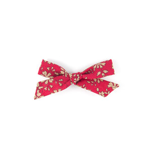 Pigtail Bow - Red Capel