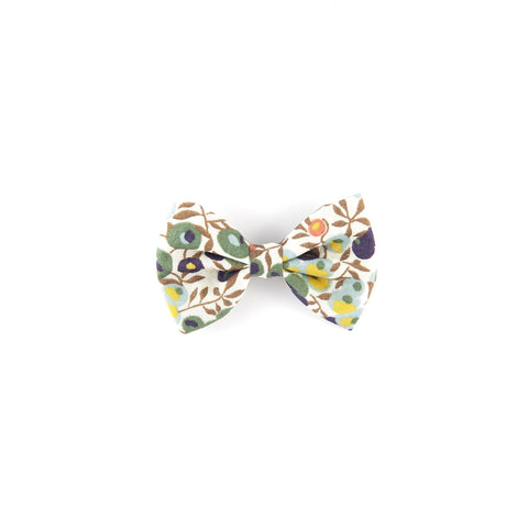 Mini Classic Bow - Green & Brown Wiltshire