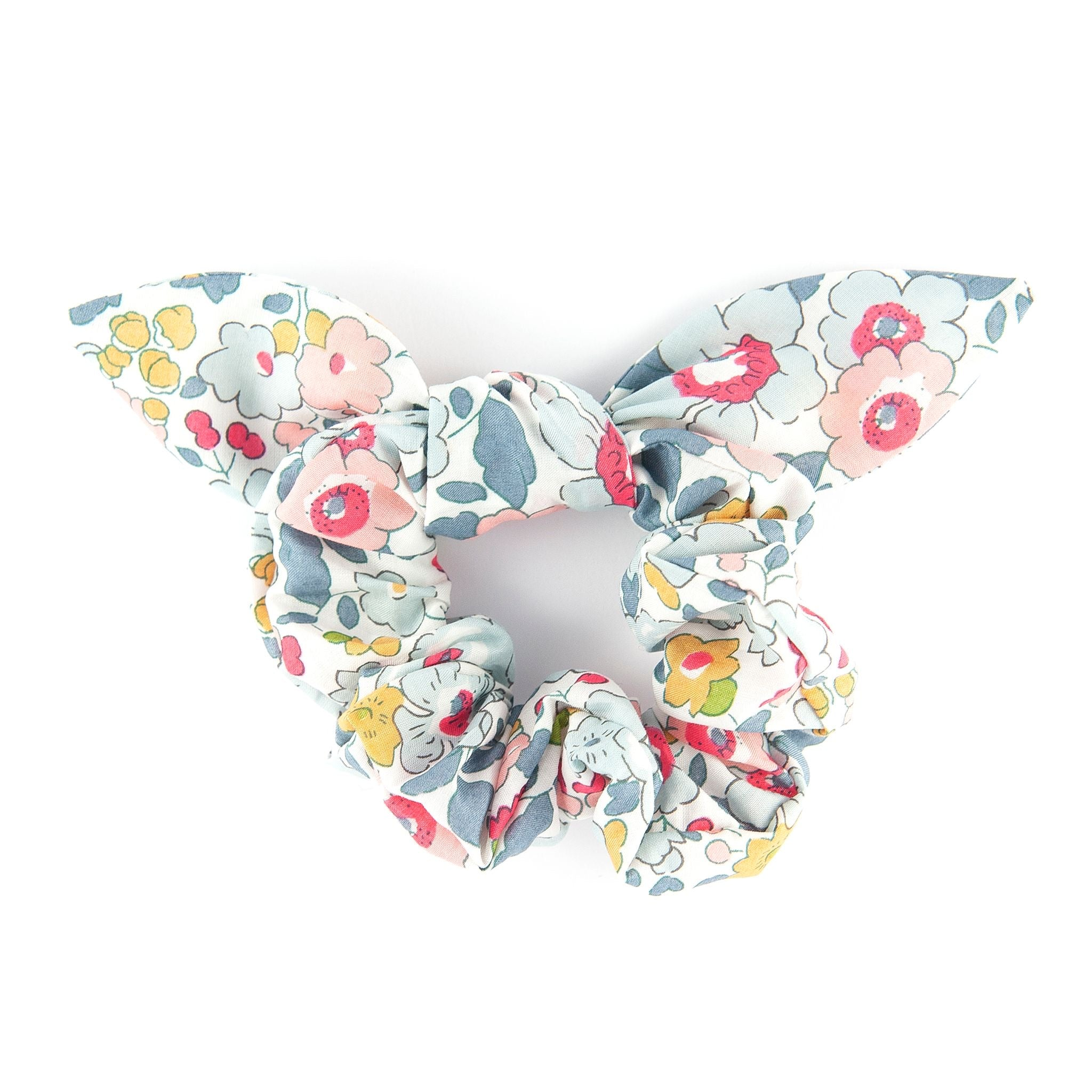 Bow Scrunchie - Liberty Betsy Grey
