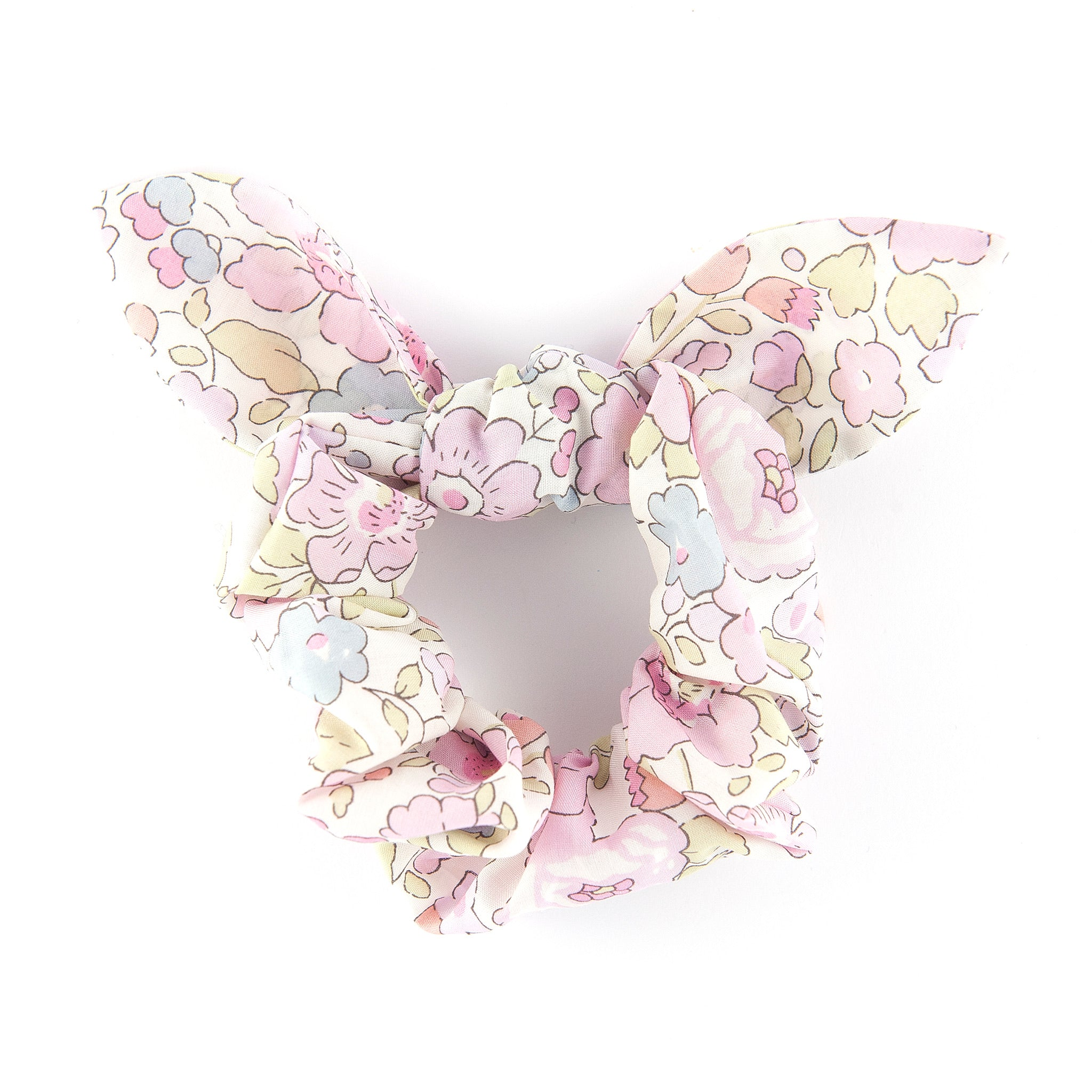Bow Scrunchie - Betsy Valentine Pink (Valentine Collection)