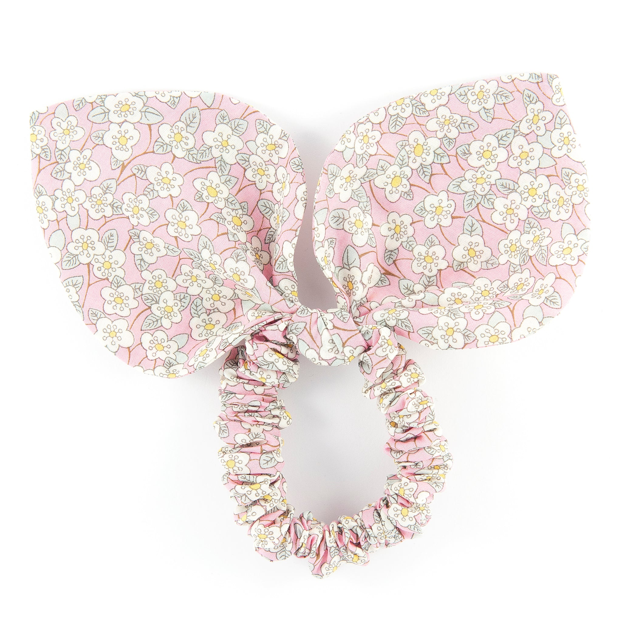Large 'Bunny Ear' Scrunchie - Ffion Pink