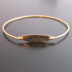 Custom Date or Name Bangle Bracelet