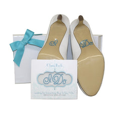 """I Do"" Rhinestone Shoe Applique"
