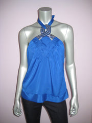 Halter Top with Bead Embellishment