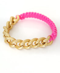 Gimp and Gold Chain Bracelet