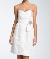 White Jacquard Dress