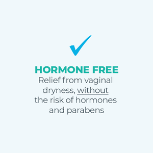 Hormone Free: Relief from vaginal dryness, without the risk of hormones and parabens