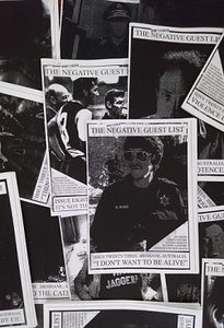 "NEGATIVE GUEST LIST - ""ISSUES 1-32"" ZINE"