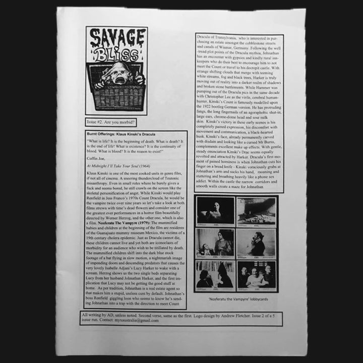 SAVAGE BLISS #2 ZINE