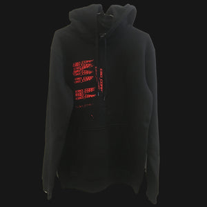 EMO CORP ®️ HOODIE - RED ON BLACK