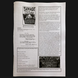 SAVAGE BLISS #4 ZINE