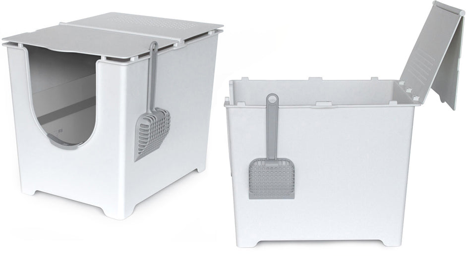 The Flip Cat Litter Box Front Entry With A Seamless