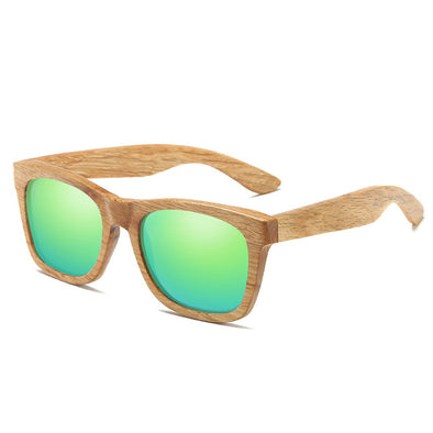 Bronze Arc Wooden Sunglasses