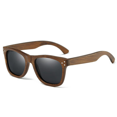 Onyx Shield Bamboo Sunglasses