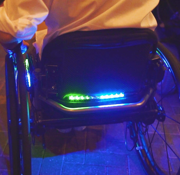 Wheelchair LED Lighting System - ADULT MANUAL WHEELCHAIR