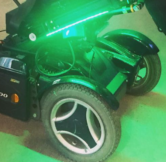 LED Lights on a Permobil C400 Power Wheelchair