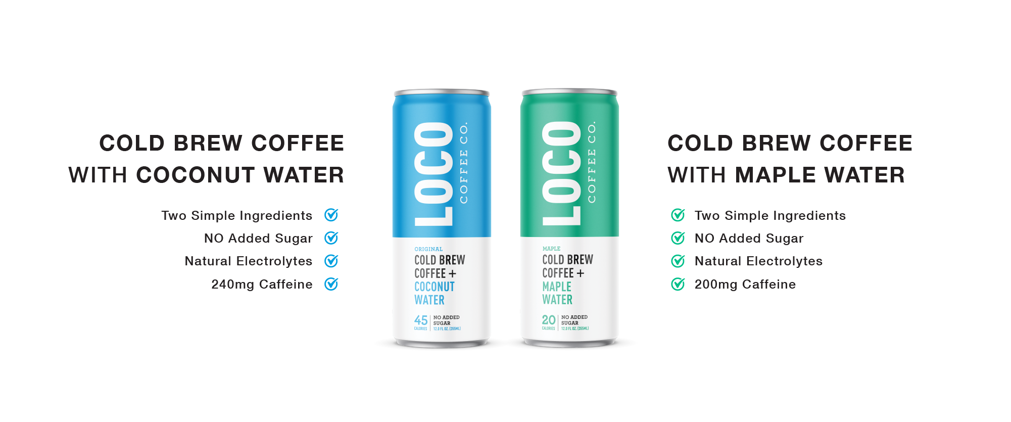loco coffee cold brew coffee plus electrolytes and antioxidants