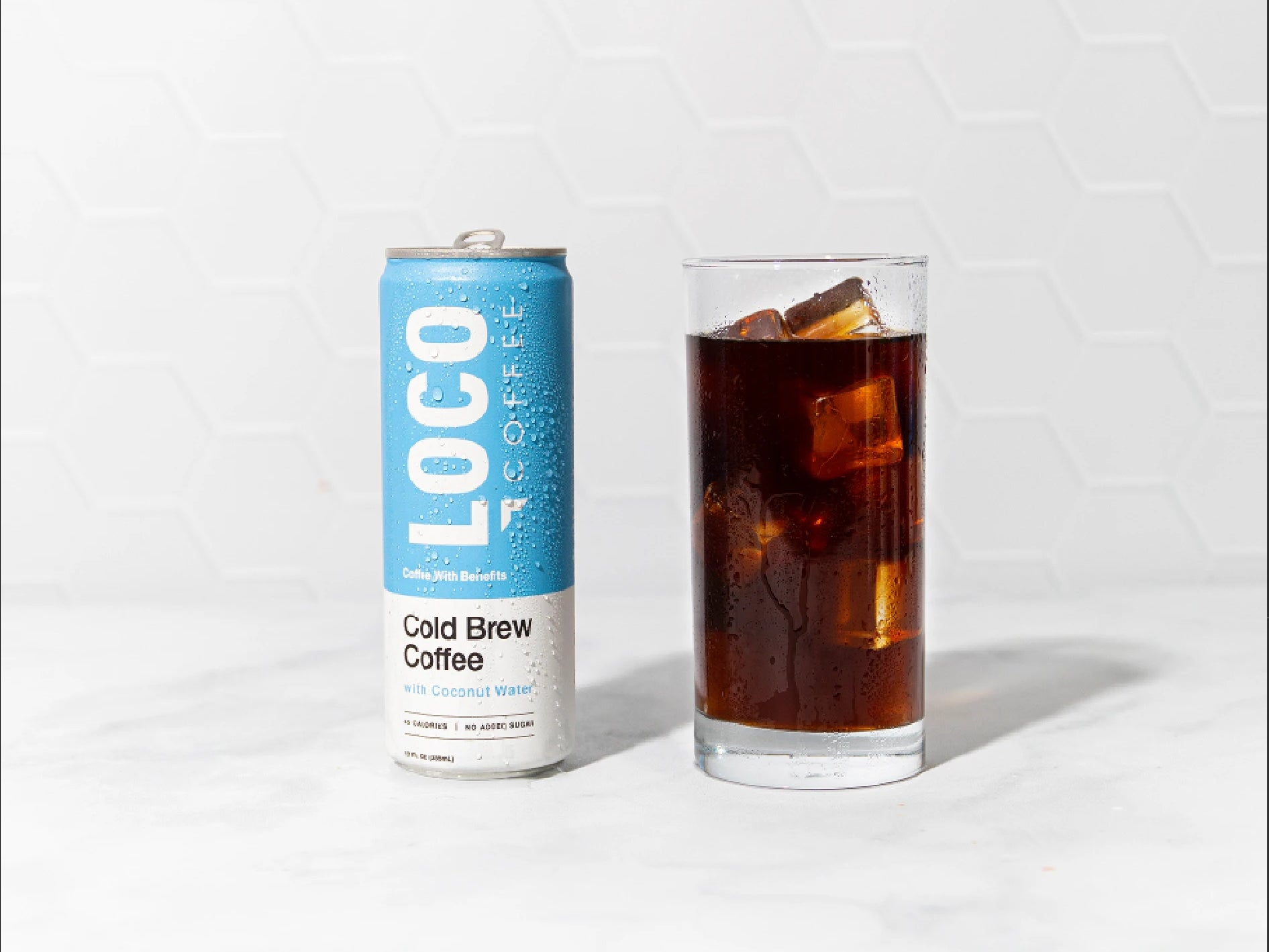 electrolyte infused cold brew with coconut water