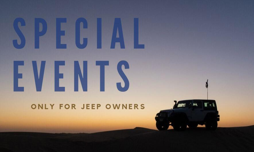 Special Events Only for Jeep Owners